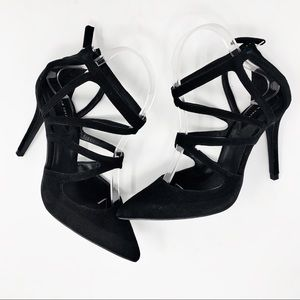 Zara Black Caged Heels Size 38